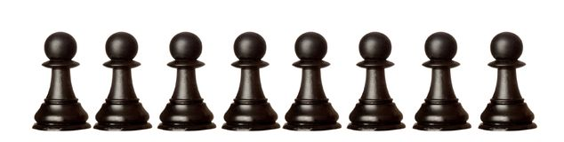 Pawns team isolated Royalty Free Stock Photography