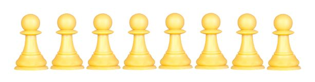 Pawns team Stock Photography