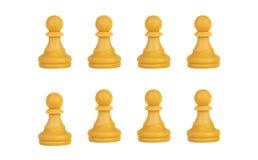 Pawns team isolated stock photos
