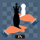 From pawns to kings chess strategy. Royalty Free Stock Photos