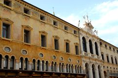 Pawnshop in Vicenza in Veneto (Italy). Photo taken at the north side of the square of the Lords in Vicenza in Veneto (Italy). In the image, taken from the side royalty free stock photography