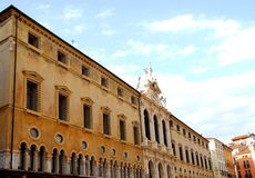 Pawnshop in Vicenza in Veneto (Italy). Photo taken at the north side of the square of the Lords in Vicenza in Veneto (Italy). In the picture you see, in the royalty free stock image