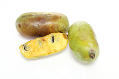 Pawpaw in a white background Stock Images