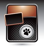 Pawprint on bronze stylized advertisement Stock Photos