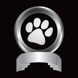 Pawprint in silver crest Royalty Free Stock Photography