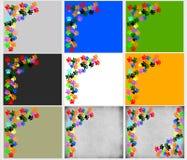 Pawprints coloreados en fondo beige gris ilustración del vector