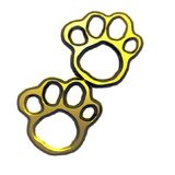 Paws. An illustration of gold animal paws Stock Image