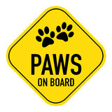 Paws on board sign Stock Photos