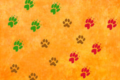 Paws footprints Royalty Free Stock Image