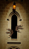 Paws of monster in castle window Stock Photography