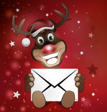 Paws Reindeer with letter Stock Image