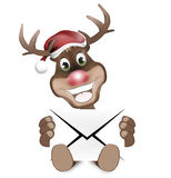 Paws Reindeer with letter Royalty Free Stock Photography