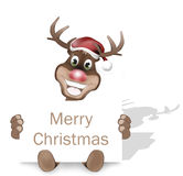 Paws Rudolf Happy Smile Christmas Design Royalty Free Stock Photos
