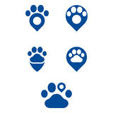 Paws. A set of paw icons Royalty Free Stock Photo
