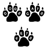 Paws & Text Royalty Free Stock Photography