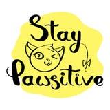 Pawsitive κάρτα παραμονής Στοκ Φωτογραφίες