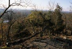 Pawtuckaway山-秋天视图 免版税库存图片
