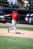 Pawtucket Red Sox batter Josh Reddick. Swings at a pitch Stock Photo