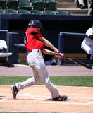 Pawtucket Red Sox batter Josh Reddick. Swings at a pitch Stock Photography