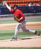 Pawtucket Red Sox pitcher Brandon Duckworth. Throws a pitch Stock Image
