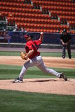 Pawtucket Red Sox pitcher Brandon Duckworth. Throws a pitch i Stock Photo
