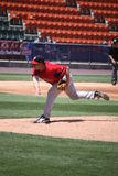 Pawtucket Red Sox pitcher Brandon Duckworth. Throws a pitch Stock Images