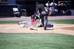 Pawtucket Rode Sox Shortstop trok Sutton royalty-vrije stock afbeeldingen