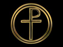 Pax Christi Symbol in Circle Royalty Free Stock Photos
