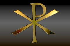 Pax Christi Symbol in Gold Stock Photo
