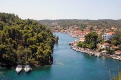 Paxoi,爱奥尼亚人海岛-希腊 库存图片