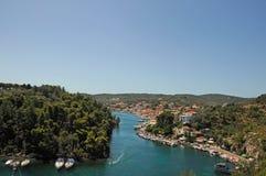 Paxoi,爱奥尼亚人海岛-希腊 免版税库存照片