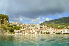 Paxos港口爱奥尼亚海的希腊海岛 免版税库存照片