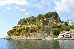 Paxos港口爱奥尼亚海的希腊海岛 免版税库存图片