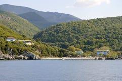 Paxos爱奥尼亚海的希腊海岛 库存图片