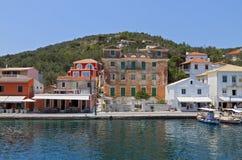 Paxos ö i Grekland Arkivbilder