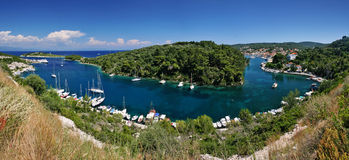 Paxos. Panorama view of paxos island, greece Stock Photo