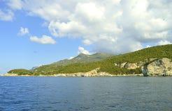Paxos un'isola greca nel mare ionico immagine stock