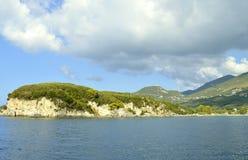 Paxos un'isola greca nel mare ionico immagini stock libere da diritti