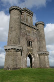 Paxton ` s塔在卡马森郡西部威尔士 免版税库存照片