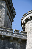 Paxton Tower & the Moon Royalty Free Stock Photos