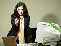 Pay attention. A businesswoman discussing with someone stock photography