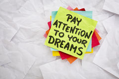 Pay attention to your dreams Stock Images