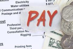 Pay a balance sheet Stock Photo