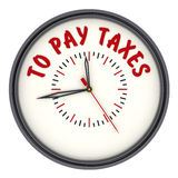 pay beskattar tid till Klockor med en inskrift vektor illustrationer