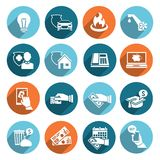 Pay Bill Icons Flat Set Royalty Free Stock Images