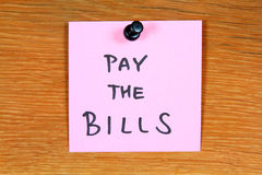 Pay the bills stock photography