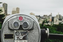 Pay binoculars in San Francisco Royalty Free Stock Photography
