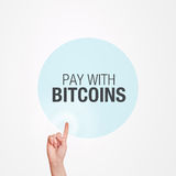 Pay With Bitcoins Concept Royalty Free Stock Image