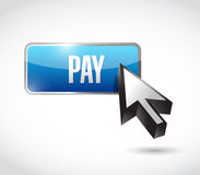 Pay button illustration design Stock Photography