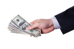Pay by cash Royalty Free Stock Photo